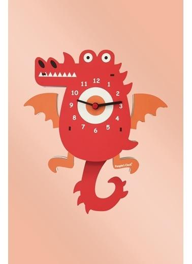 Peoples Clock Ejderha Sallanan Sarkaçlı Çocuk Odası Duvar Saati Renkli